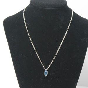Light Blue Topaz Sterling Silver Necklace